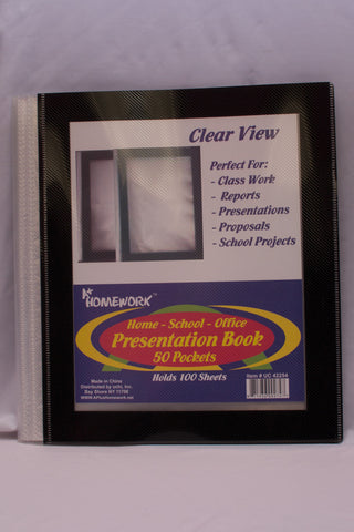 Presentation Book Clear View Frame 40 Pocket
