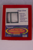 Presentation Book Clear View Frame 50 Pocket