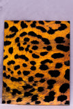 Double Pocket Folder Paper Laminated Animal Print Fur Textured