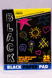 Paper Pad Black Color  - 25 Sheets