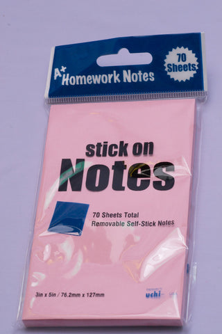 "Sticky Notes Assorted Pastel  3""X5"" 70 Sheets"