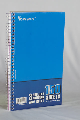 UC1936 A+ Homework Bulk Notebook 3 Subject Note Size