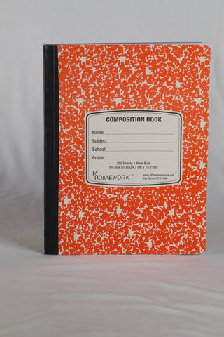 Composition Notebook - Wide Rule 100 Sheet Premium Quality Color Cover