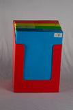Document Case Paper With Velcro Closure Neon Color Letter Size
