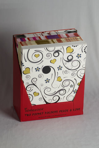 UC22037 A+ Homework Bulk Folders Peace Designs