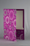 Double Pocket Folder Paper Laminated Glitter Flowers