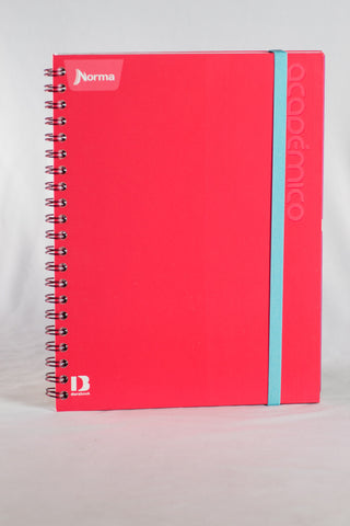 2 Norma Academico Notebooks with Elastic Closure Pink