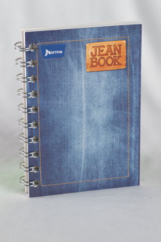 Norma Mini (5 x 3) Wired Bound Notebook Jean Book