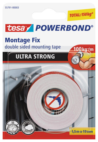 tesa® Double Sided tape Powerbond Ultra Strong 1.5m X 19mm