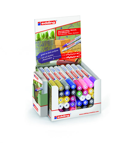 edding POS Display 50.536  Matt Paint Markers