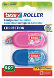 tesa® Mini correction tesa Roller Blister 2 U (Pink, Blue)
