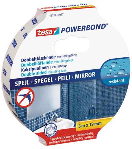 tesa® Double Sided tape Powerbond Mirror 5mX19mm