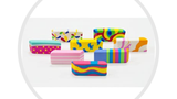 A+ Homework Multi Color Erasers - Pack 4 UC61859