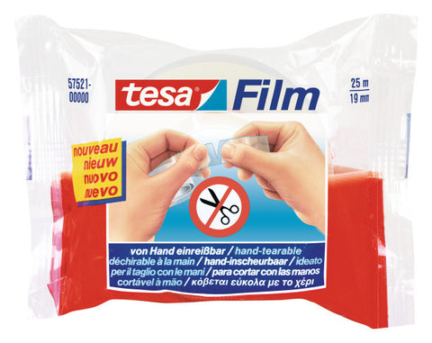 tesa® Hand Tearable Tape - No Scissors 25mX19mm