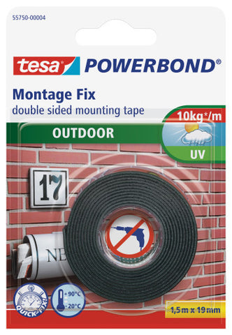 tesa® Double Sided tape Powerbond Exterior 1.5mx19mm