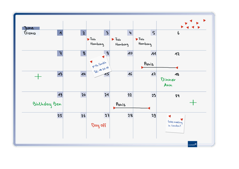 Legamaster ACCENTS Linear Month Planner Cool (Blue) 60x90 cm