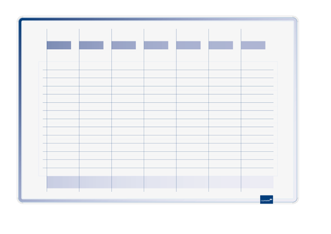 Legamaster ACCENTS Linear Week Planner Cool (Blue) 60x90 cm