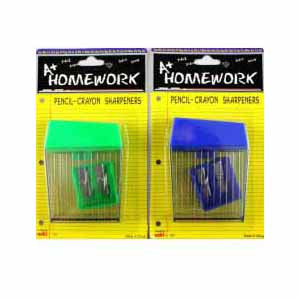 Pencil / Crayon Sharpeners One Large & One Small 2pk