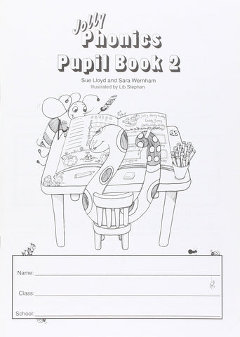 Jolly Phonics Pupil Book 2 Black & White