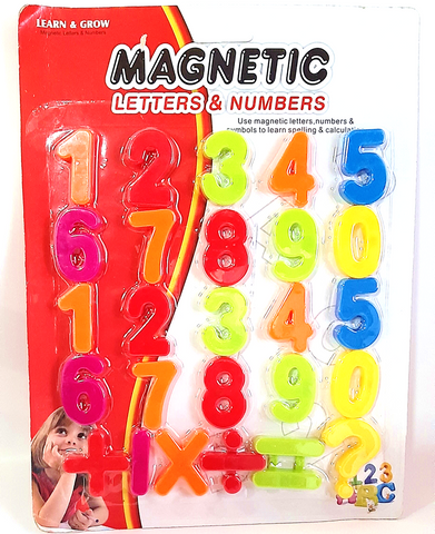 Magnetic Letters & Numbers Blister Pack