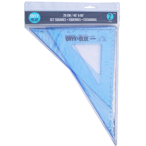 Onyx & Blue SET SQUARE:26cm(45 & 60) #2700