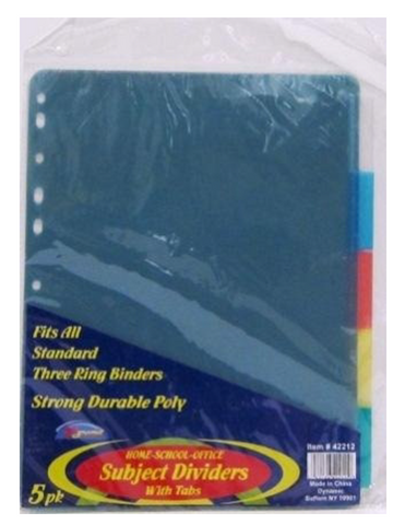 Poly Dividers 3 Pack