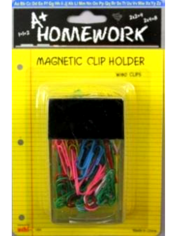 Paper Clips W/Magnetic Holder 60pc 1.25""