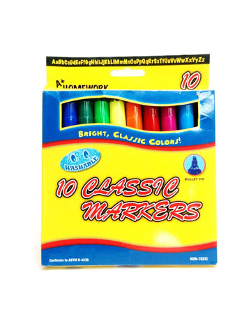 Markers Jumbo Washable - Pack - 10