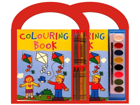 COLOURING BOOK WITH HANDLE SETS