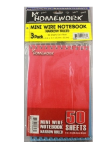 "Memo Books 4"" X 6"" - 50 Sheets - 3 per pack"