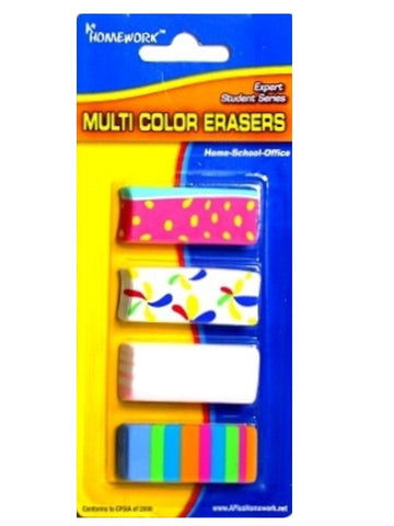 MULTI COLOR NOVELTY ERASERS