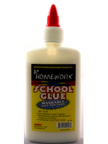 A+ HOMEWORK School Glue Washable 8oz