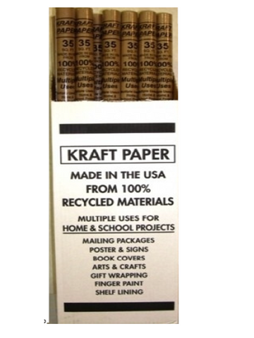 "Brown Paper KRAFT ROLL 30"" x 5 Feet"