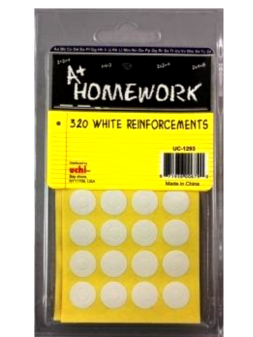 Reinforcement Labels White - 320ea