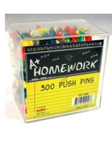Push Pins  Color  In Hard Plastic Permanent Storage Box 300