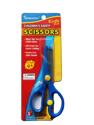 "Safety Scissors 5"" Plastic Coated Metal"