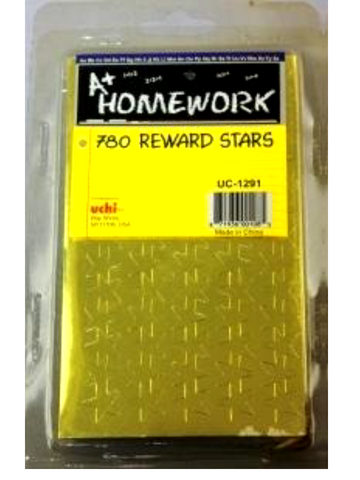 Stickers - Gold Foil Stars  - 780 Reward Stars