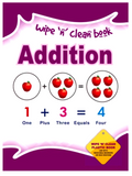 Wipe And Clean Book 8 Pages 4 Assorted Math