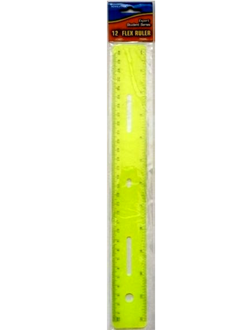 "Rulers - 12"" - Flex Soft Touch In Hanging Bag"