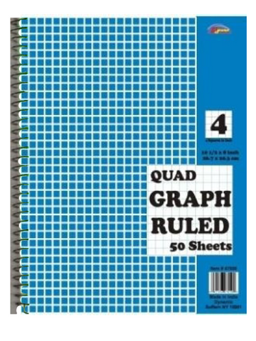 Graph Ruled Spiral Notebook - 50 Sheets