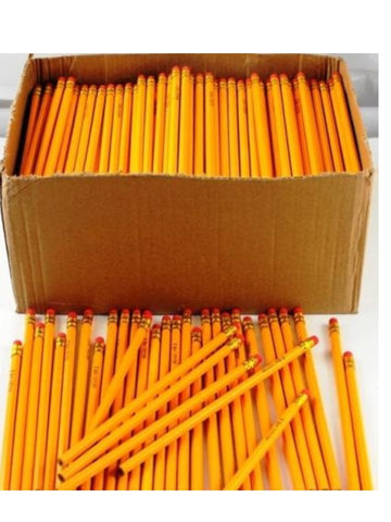 A+ Homework Basic Pencils Bulk 576 Yellow Hb N0. 2