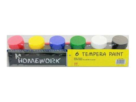 A+ HOMEWORK - Poster Paint - 6pk Tempera Paint Set 0.75oz Each
