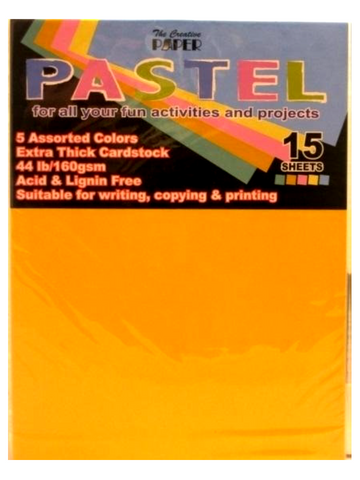 Cardstock Pastel Color Pack 15 Sheets