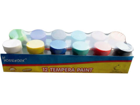 A+ HOMEWORK - Poster Paint - 12pk Tempera Paint Set