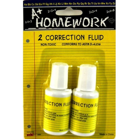 2pk Correction Fluid 0.70oz Each