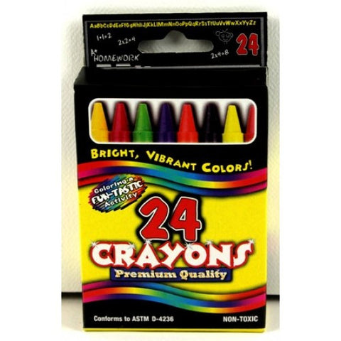 Crayons Boxed - 24 pk asst.cls