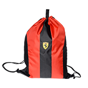 Norma String Bag Ferrari Black & Red