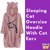 Sleeping Cat Oversize Hoodie With Cat Ears Review