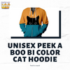 Here's Our Unisex Peek A Boo Bi Color Cat Hoodie