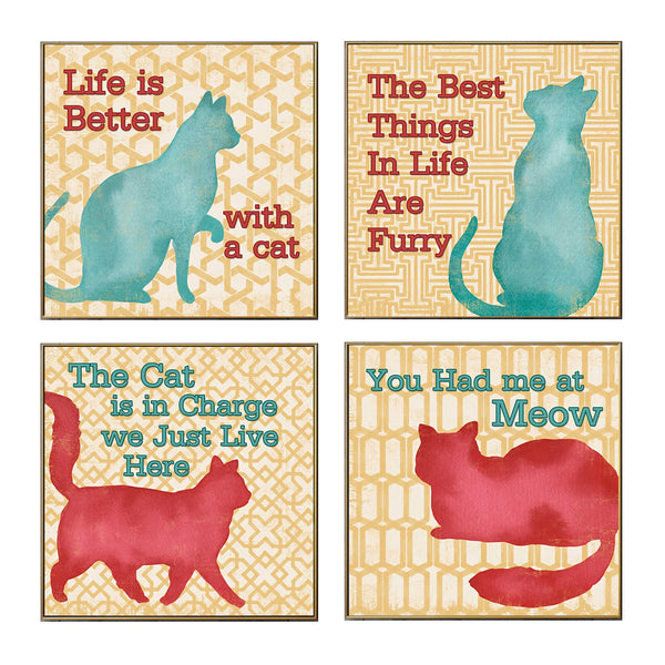 Nordic Life Cat Quotes Posters Canvas Wall Art (Unframed) - FreakyPet